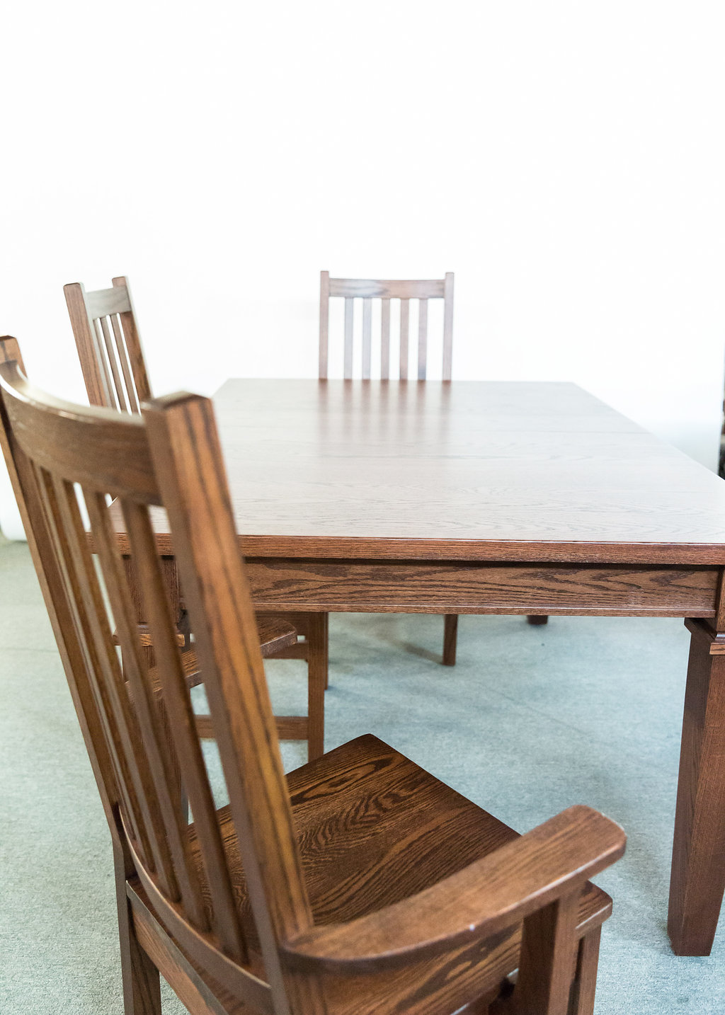 "Arizona 42x60 Table+2-12"" Leaves with 6 Shaker Chairs"