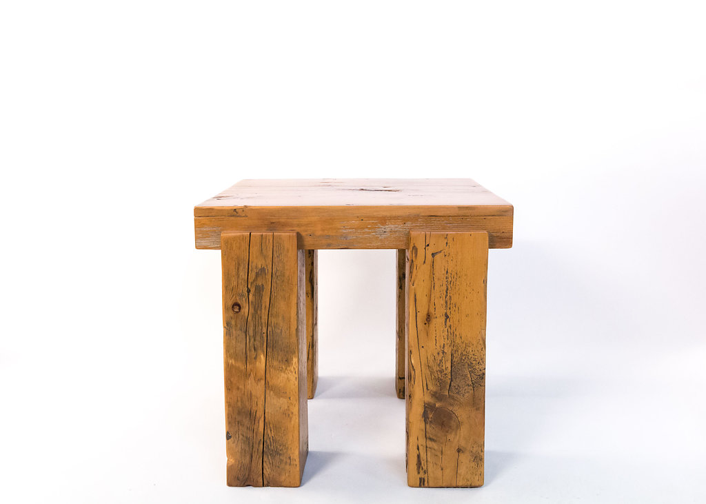 "Authentic Barnboard End Table w6"" Legs"