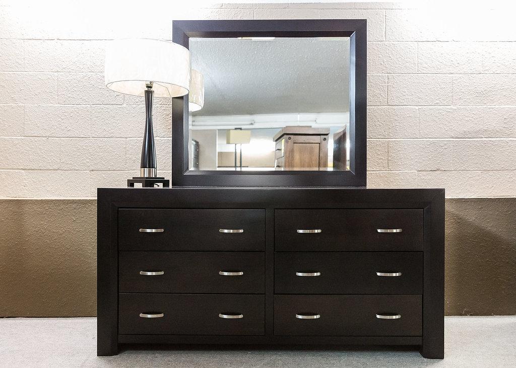 Contempo 6 Drw. Dresser & Mirror