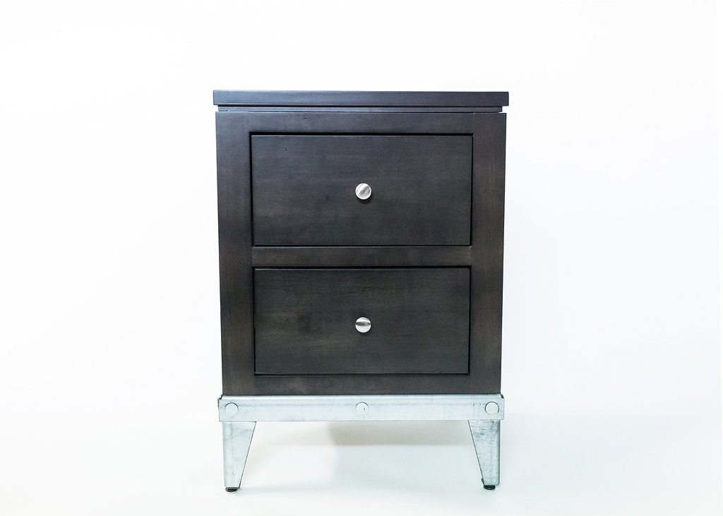 Hergott 2 Drawer Nightstand