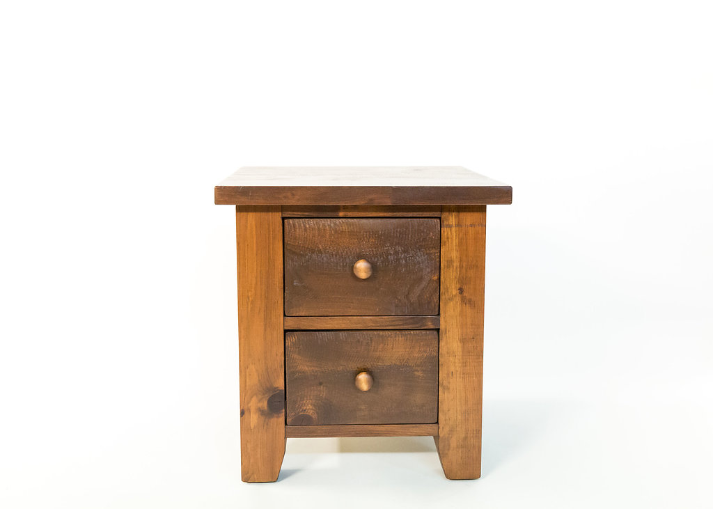 Lumberjack 2 Drawer End Table