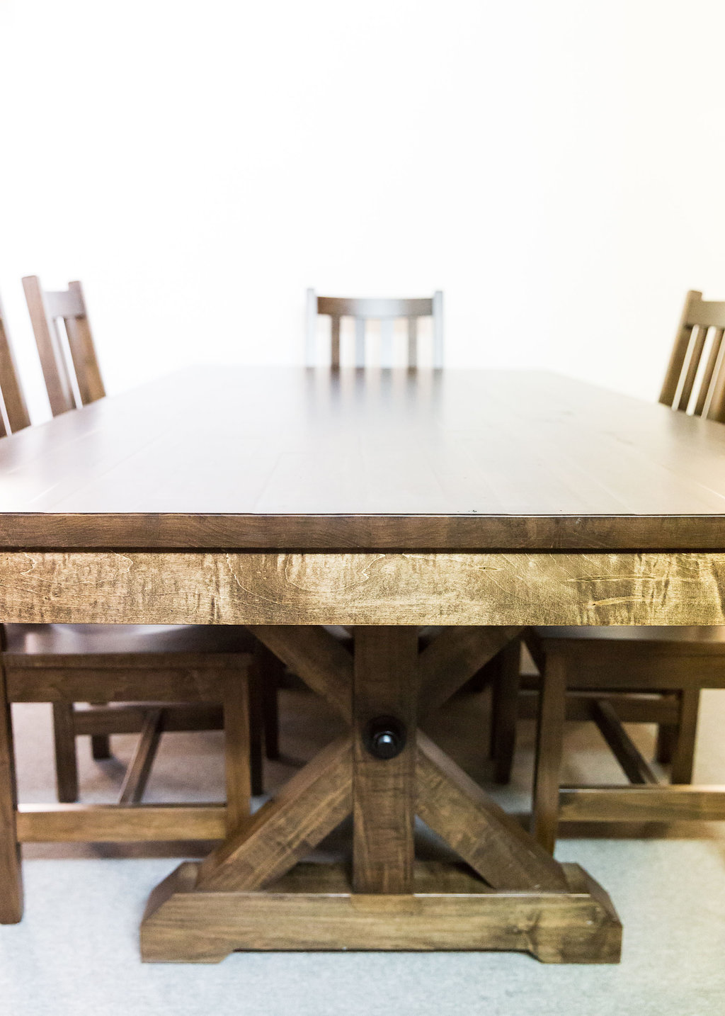 Rafters 42x84 Table with 6 Muskoka Side Chairs
