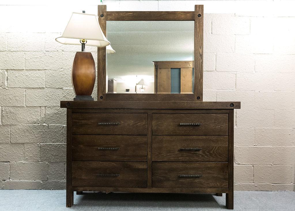 Rafters 6 Drw. Dresser & Mirror