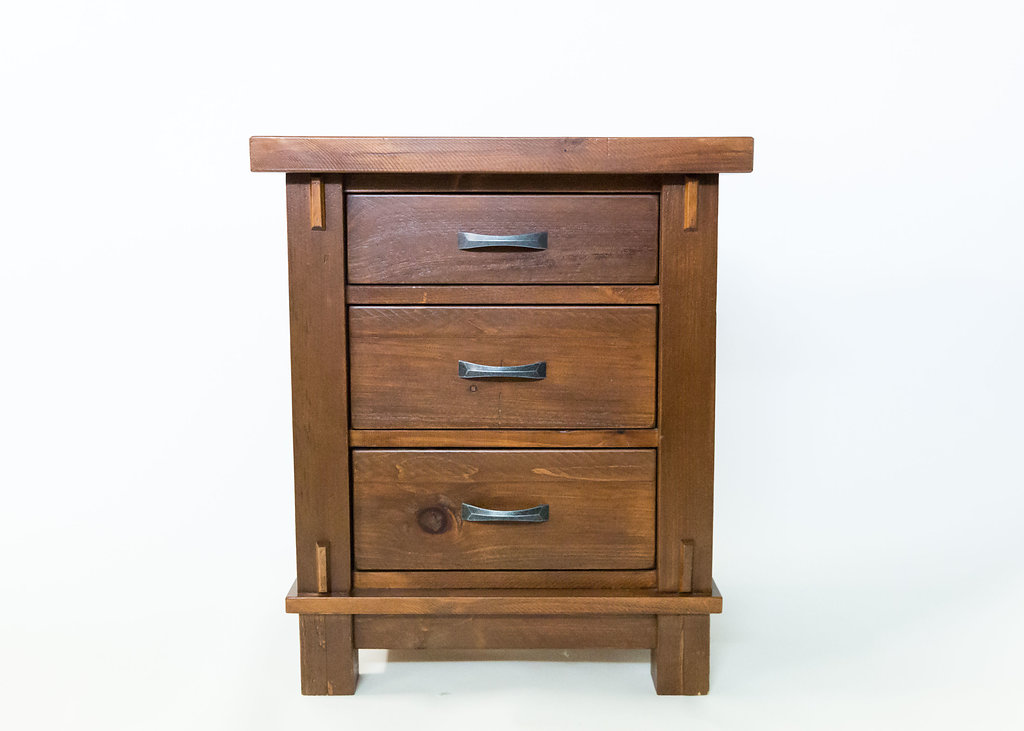 Timber 3 Drawer Nightstand