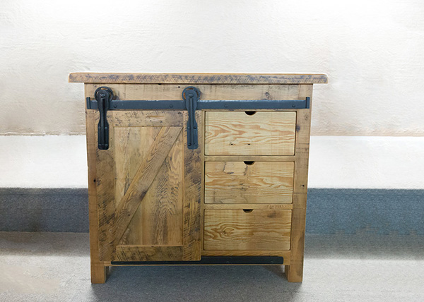 Reclaimed Barnboard Sideboard 3 Drw/1 Dr