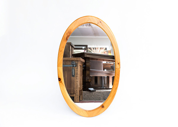 Oval Pine Mirror (Large & Small available)